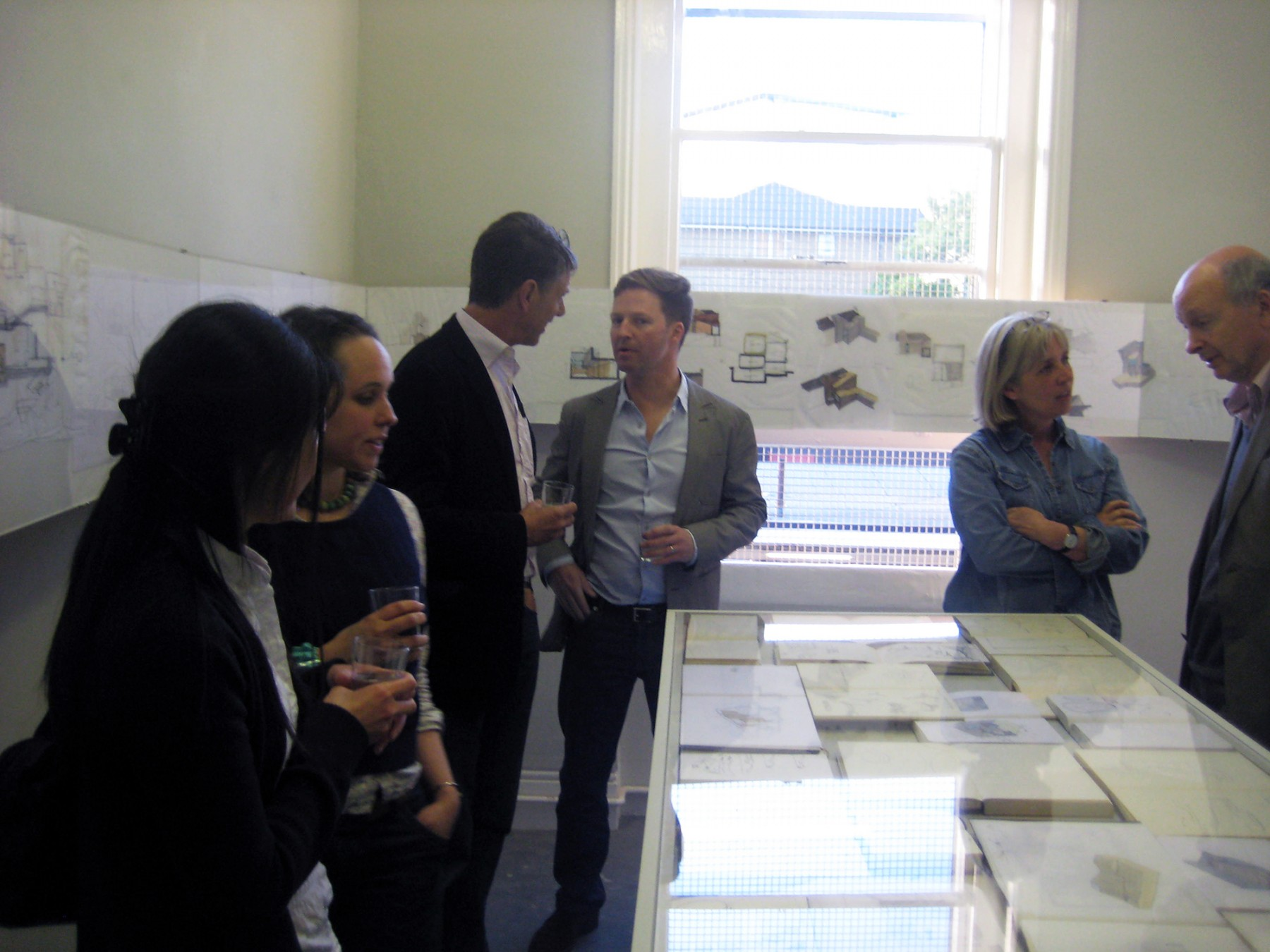 Jamie-Fobert-Architects-C4RD-Exhibition-Architecture-Sketch-Books-sketches-opening 1