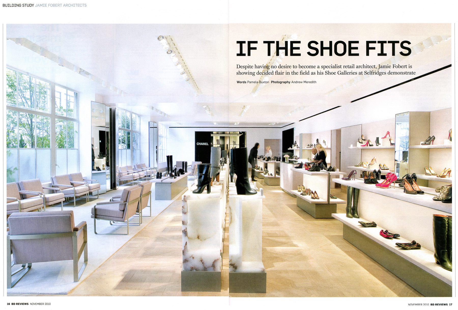 Jamie-Fobert-Architects-Selfridges-Shoes-Article-Press-BD 1