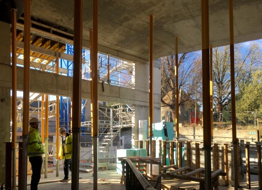 Kettle's-Yard-House-Gallery-Cambridge-Jamie-Fobert-Architects-on-site-extension-construction