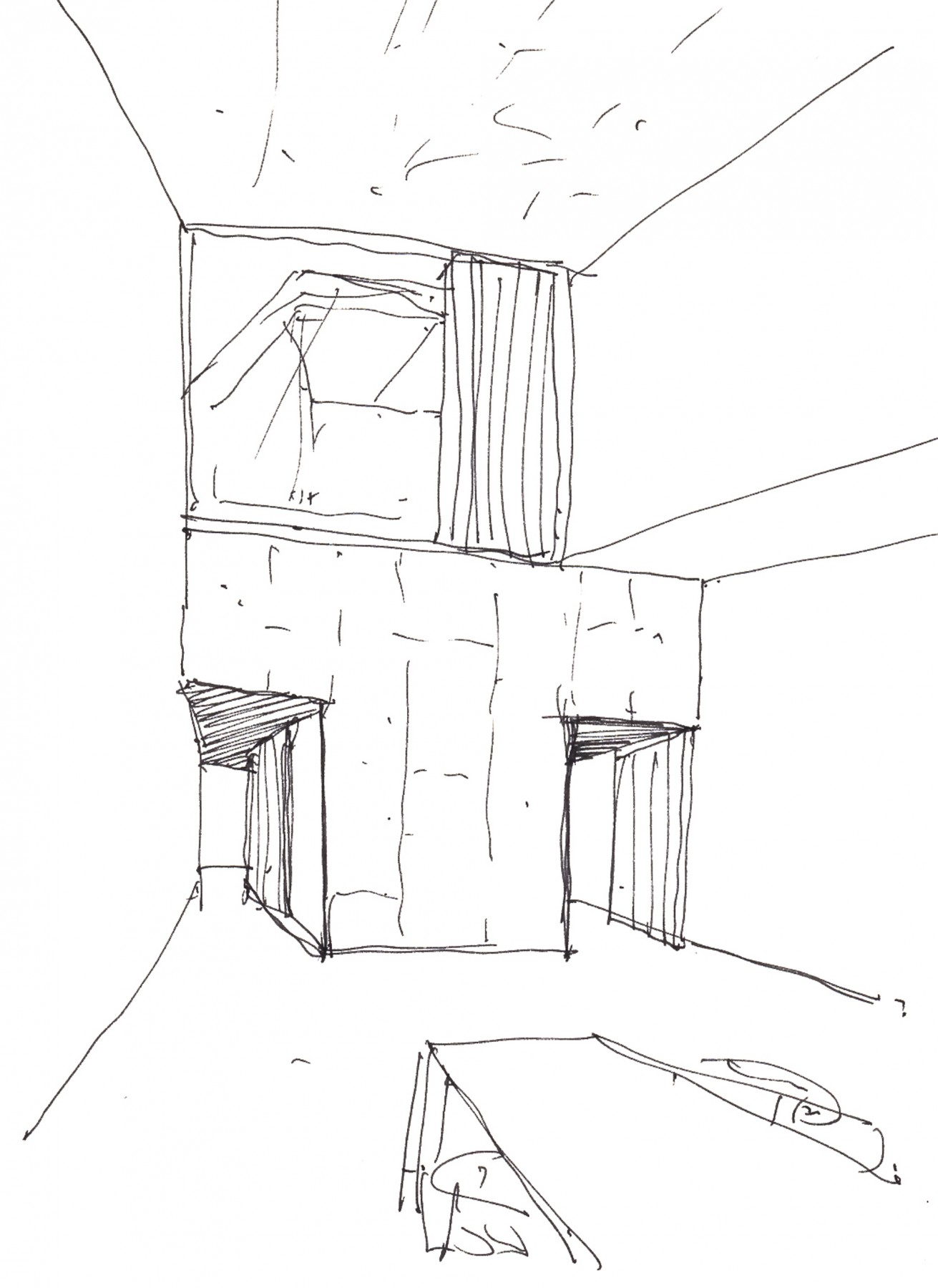 Anderson-House-contemporary-modern-London-residential-home-Jamie-Fobert-Architects-sketch