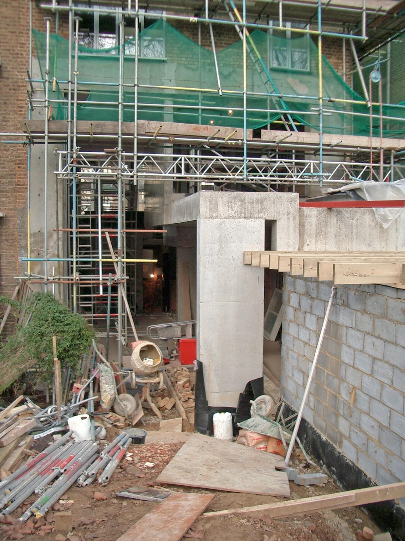 Kander-house-Primrose-hill-London-residential-home-contemporary-interior-Riba-award-victorian-Jamie-Fobert-Architects-construction-site