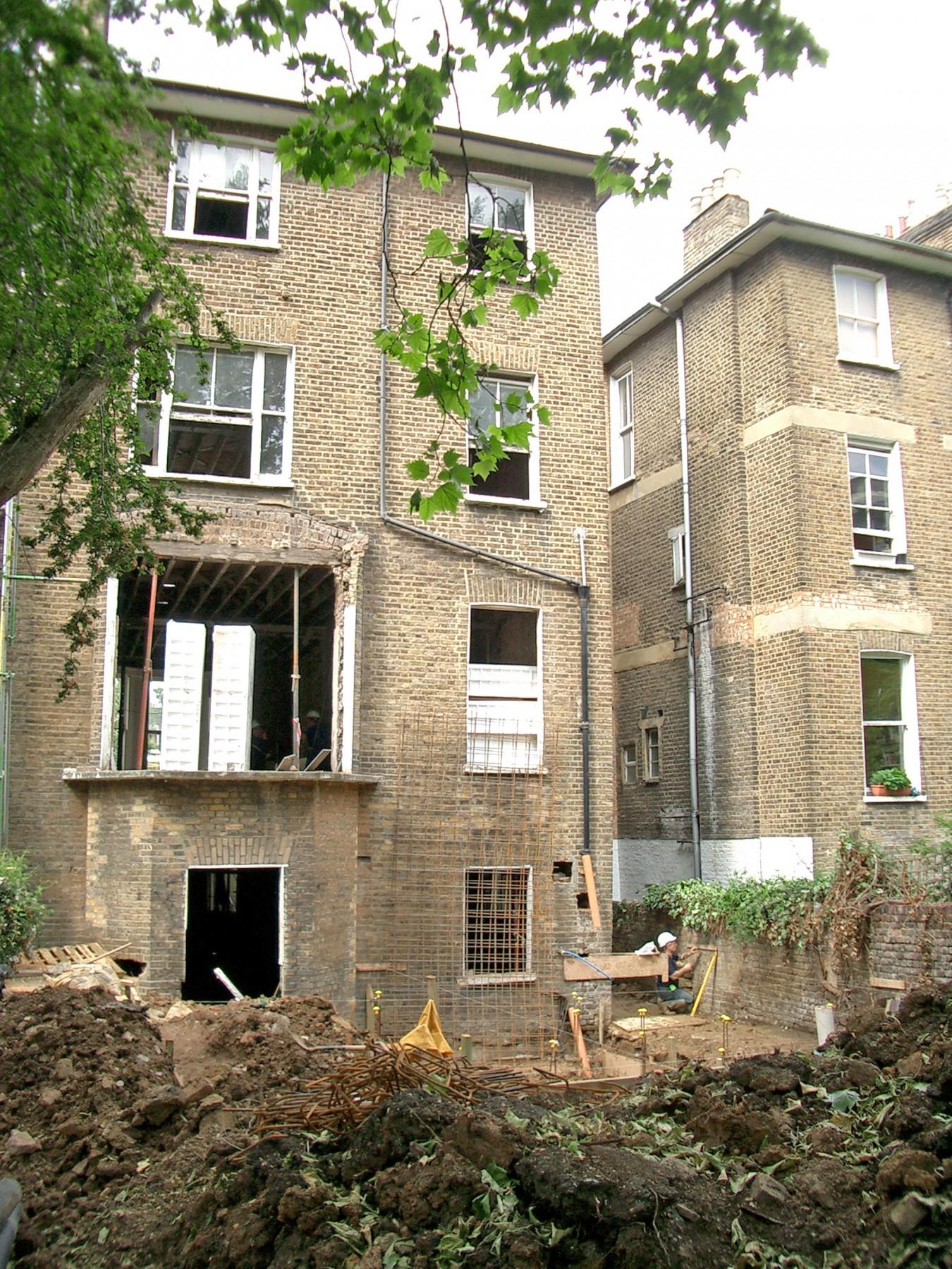 Kander-house-Primrose-hill-London-residential-home-contemporary-interior-Riba-award-victorian-Jamie-Fobert-Architects-construction-site-3