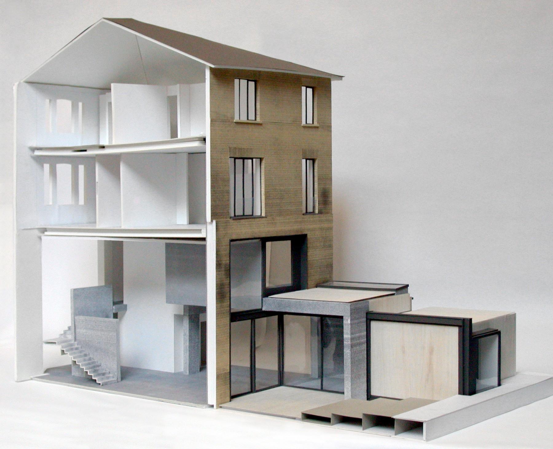 Kander-house-Primrose-hill-London-residential-home-contemporary-interior-Riba-award-victorian-Jamie-Fobert-Architects-model