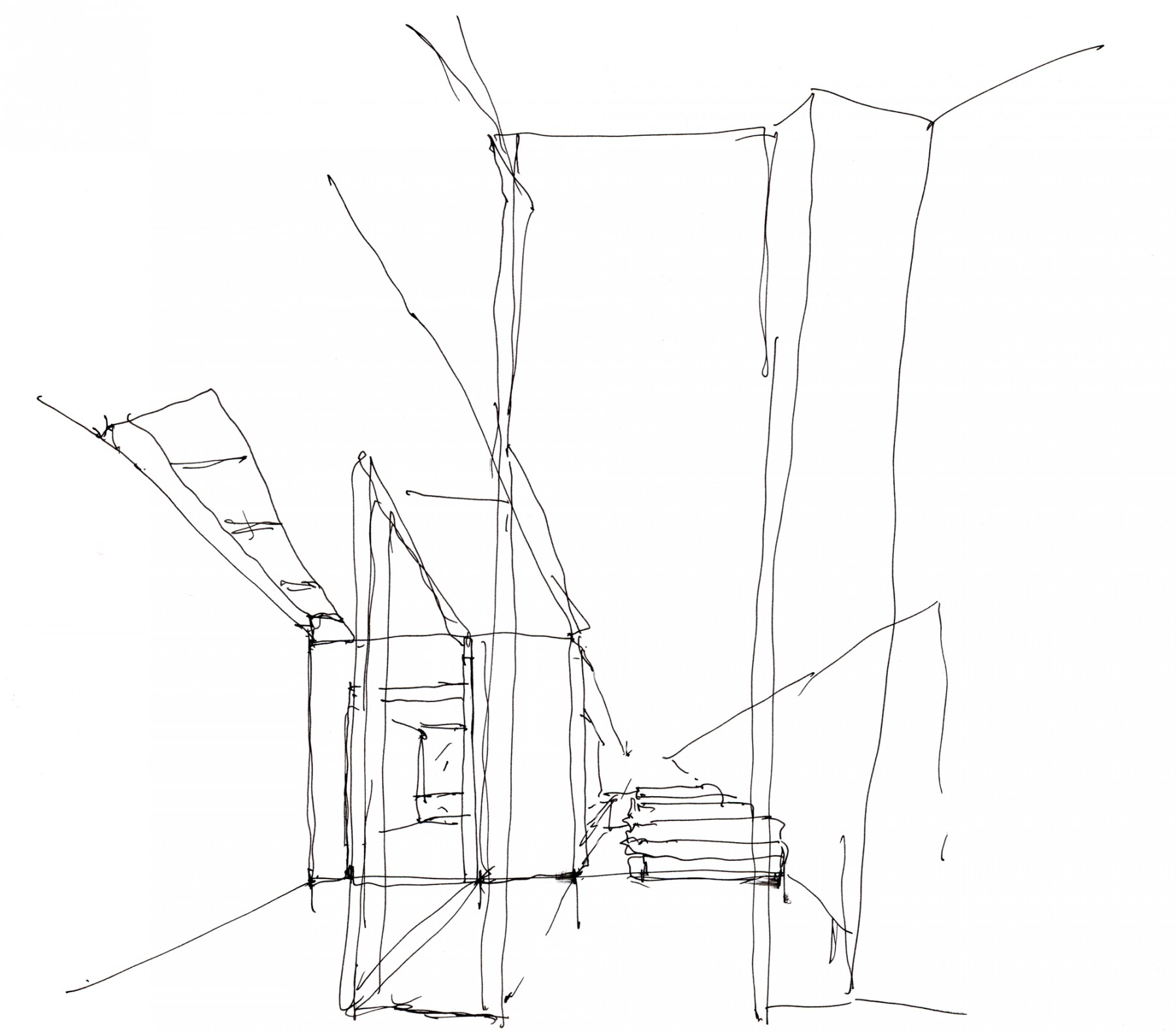 Kander-house-Primrose-hill-London-residential-home-contemporary-interior-Riba-award-victorian-Jamie-Fobert-Architects-sketch