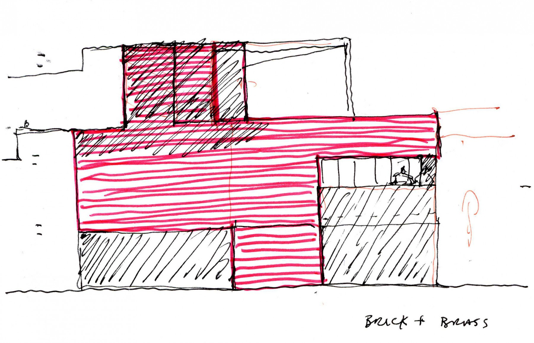 Levering-House-contemporary-modern-London-residential-home-Jamie-Fobert-Architects-Doughty-Mews-sketch