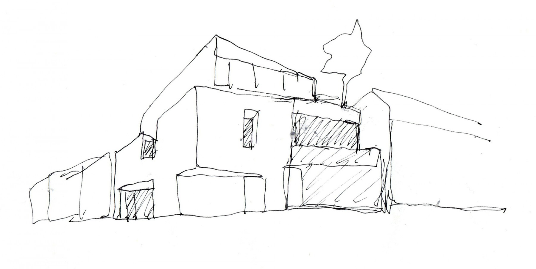 Levering-House-contemporary-modern-London-residential-home-Jamie-Fobert-Architects-Doughty-Mews-sketch2
