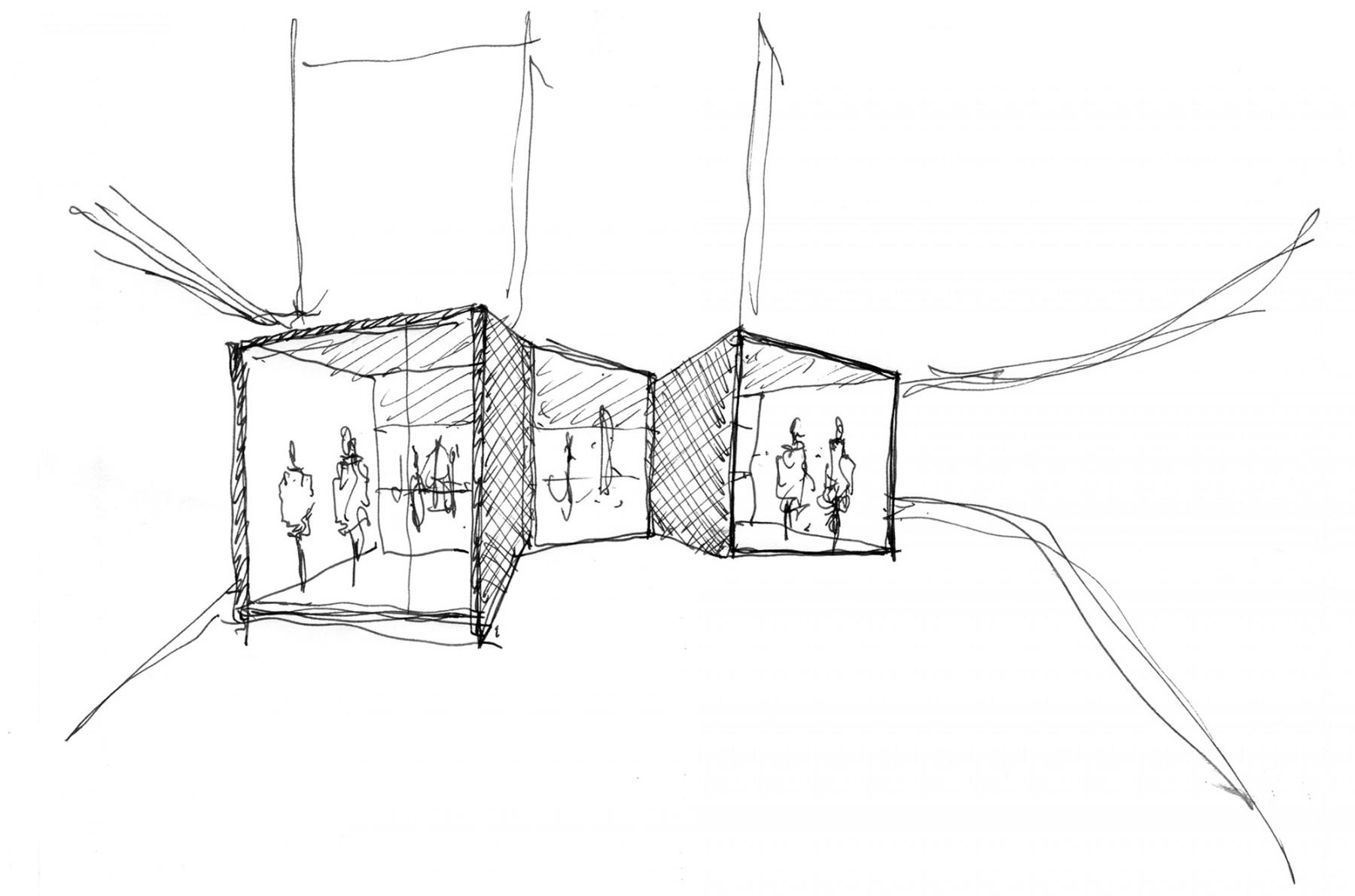 BHV-Galeries-Lafayette-Paris-retail-France-Hôtel-de-Ville-Department-store-shopping-Jamie-Fobert-Architects-sketch