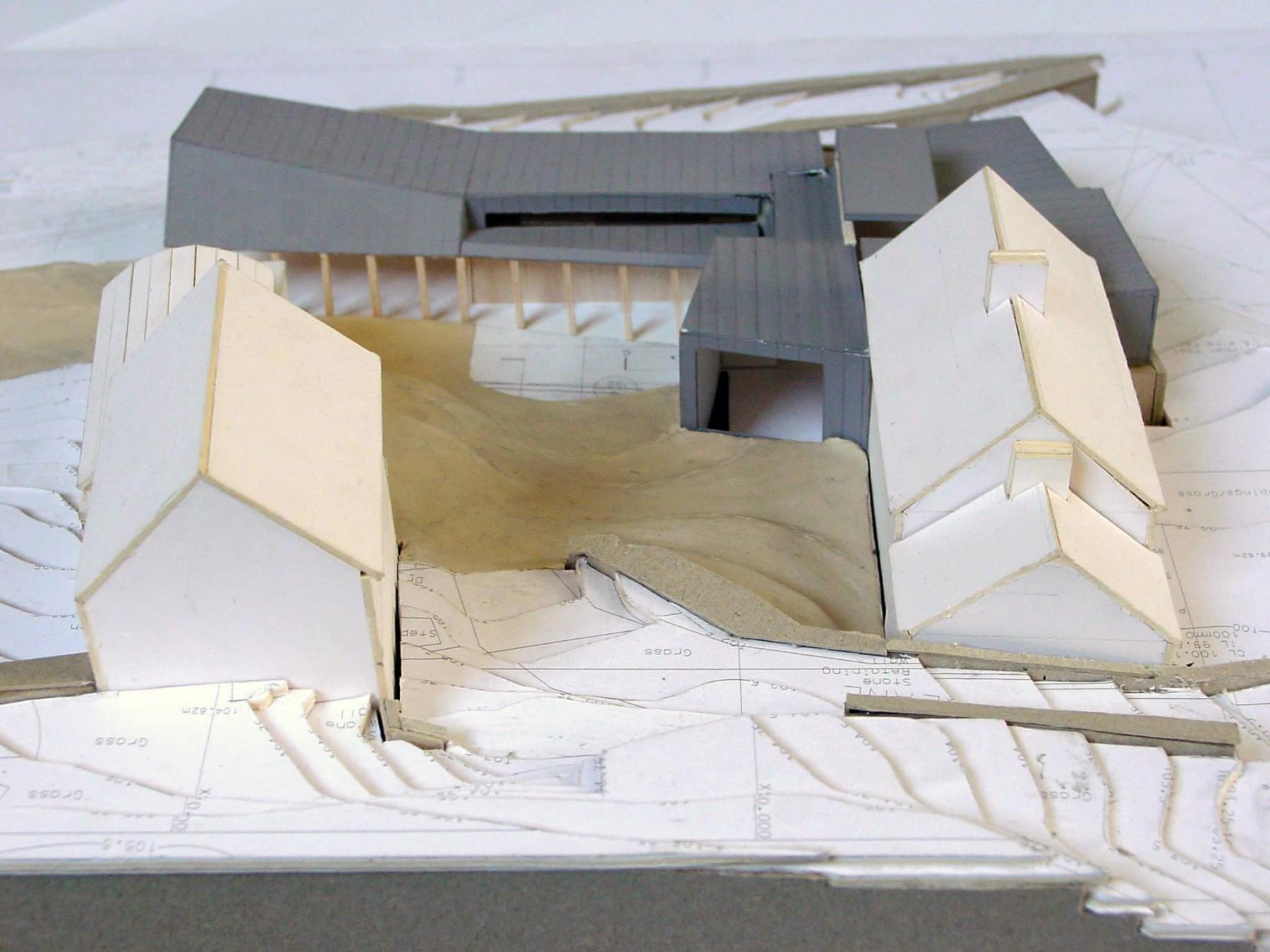 FaHa-Farm-house-barn-County-Clare-Ireland-residential-home-rural-timber-zinc-Jamie-Fobert-Architects-model