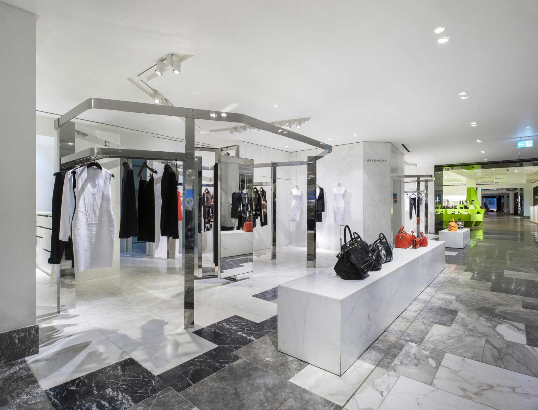 Selfridges-London-designer-fashion-retail-Jamie-Fobert-Architects-shop-marble-floor-womenswear-2