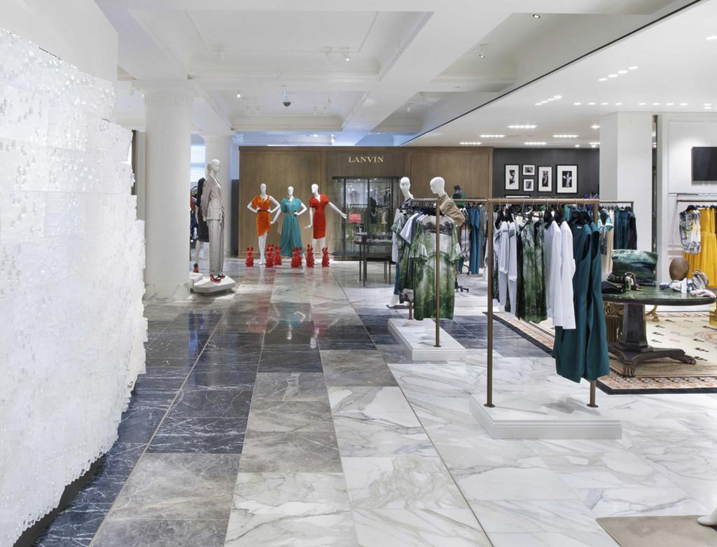 Marble floor jamie fobert architects for Retail store floor plan maker