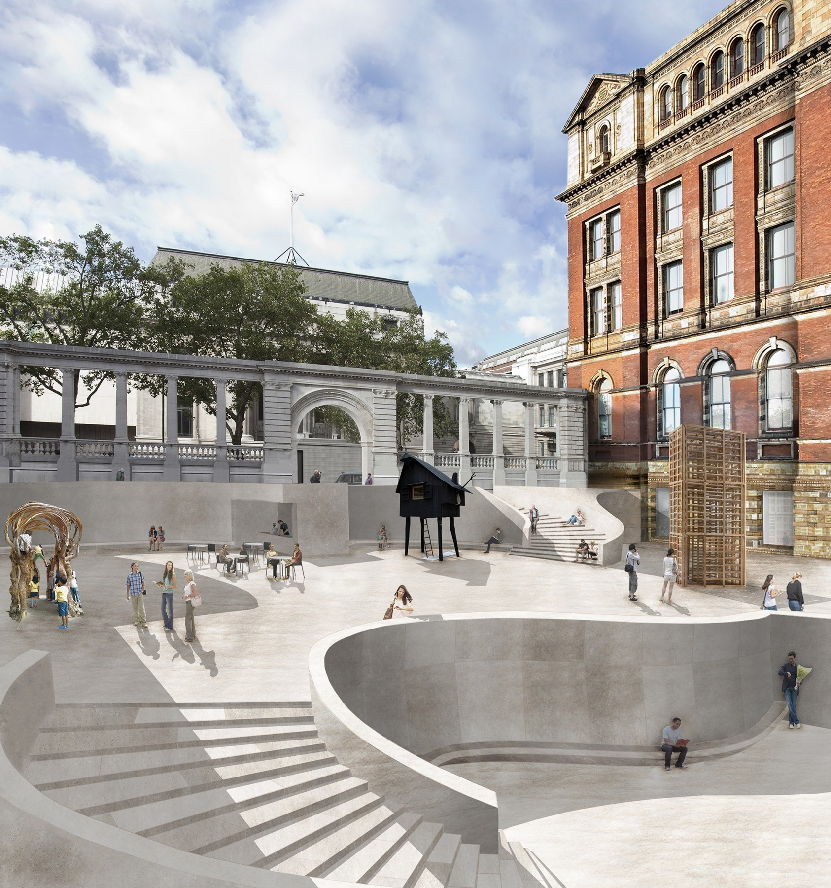 Victoria-and-Albert-Museum-V&A-competition-Exhibition-Road-gallery-London-Sir-Aston-Webb-design-short-list-Jamie-Fobert-architects-1