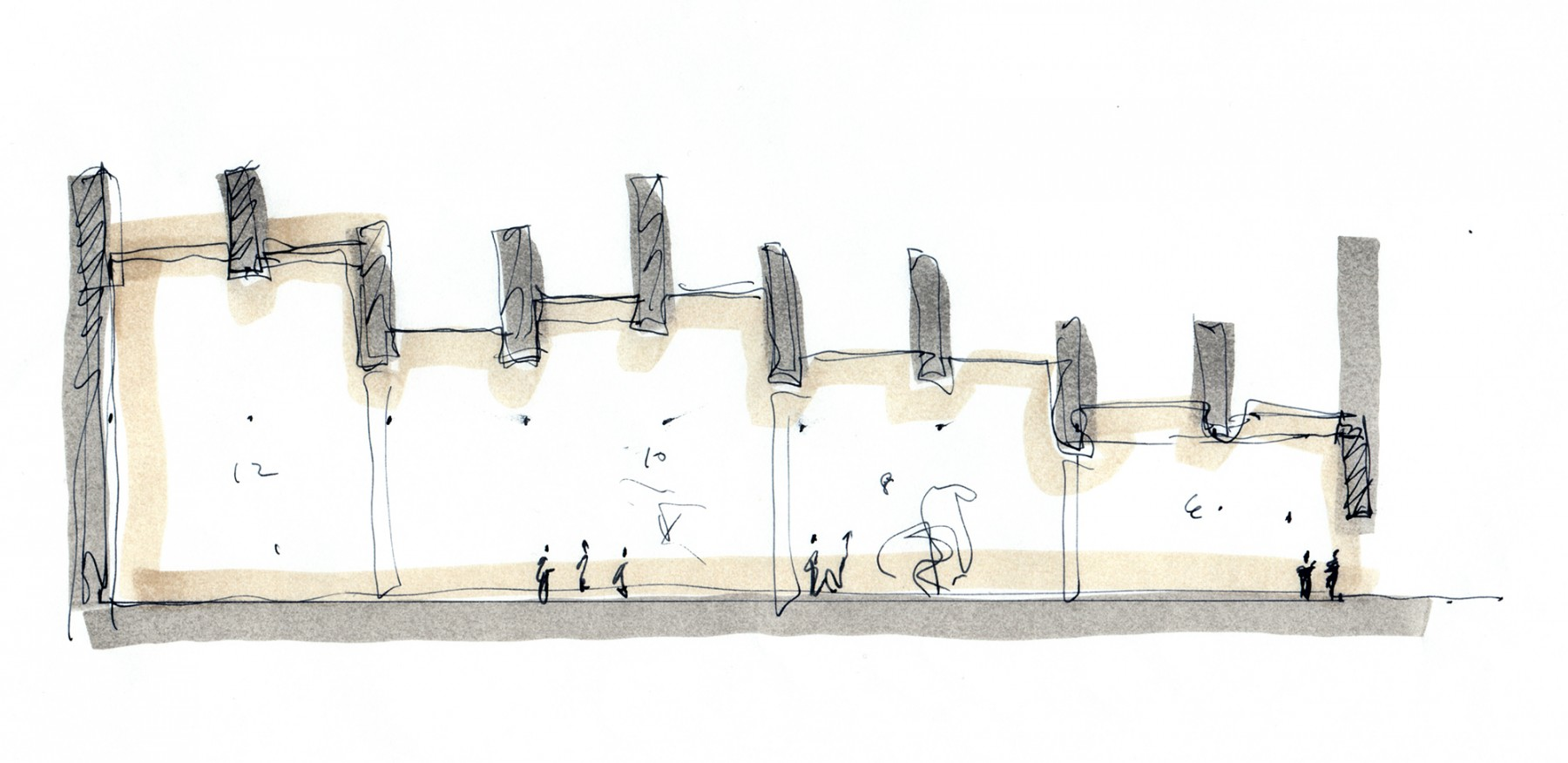 Victoria-and-Albert-Museum-V&A-competition-Exhibition-Road-gallery-London-Sir-Aston-Webb-design-short-list-Jamie-Fobert-architects-sketch
