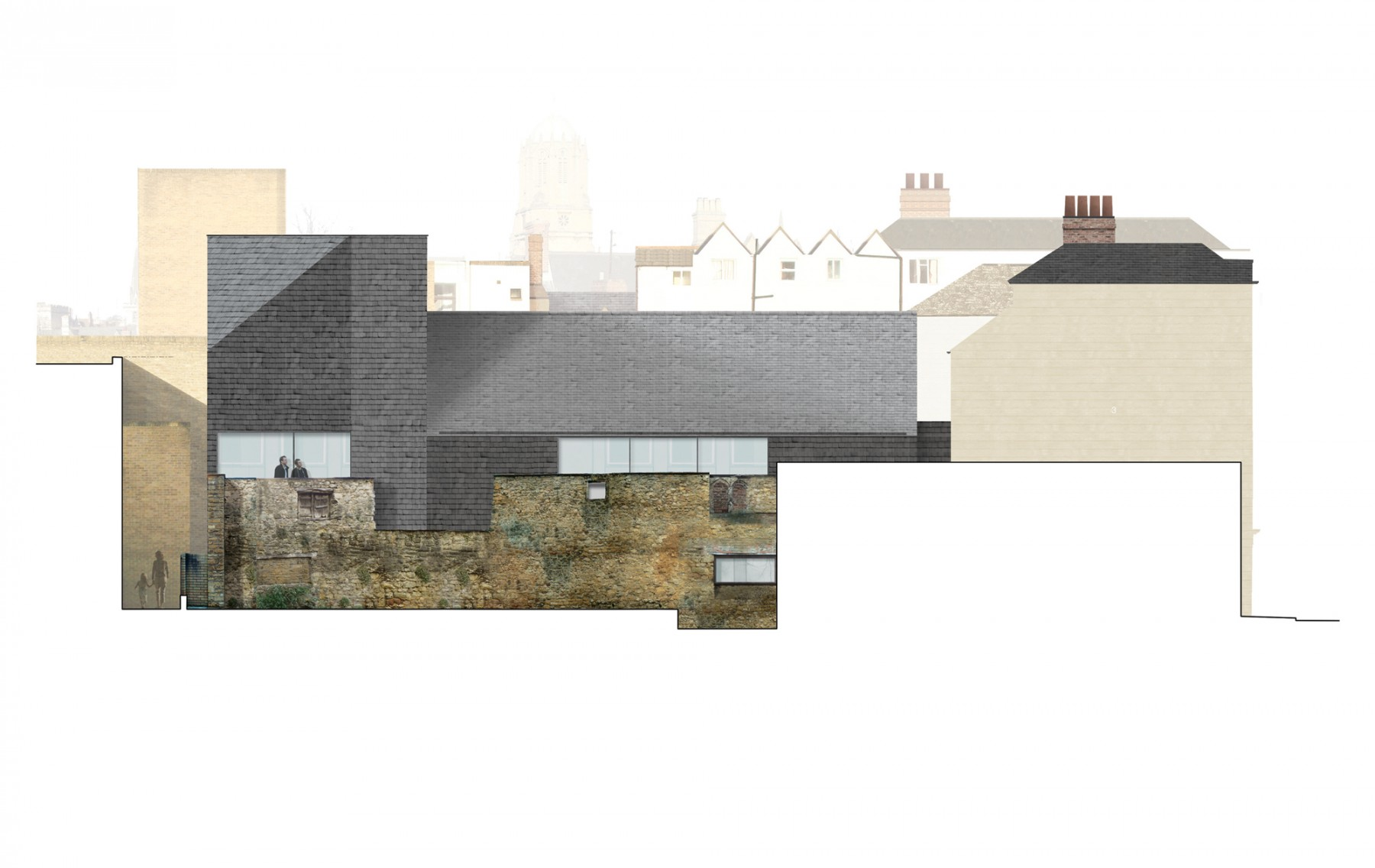 St-Aldates-Oxford-contemporary-modern-historic-residential-home-Jamie-Fobert-Architects-elevation-south