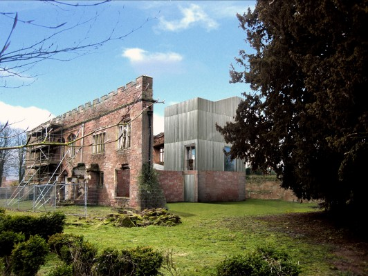 Astley-Castle-competition-accomodation-Nuneaton-Warwickshire-Landmark-trust-English-Heritage-short-list-Jamie-Fobert-architects-1