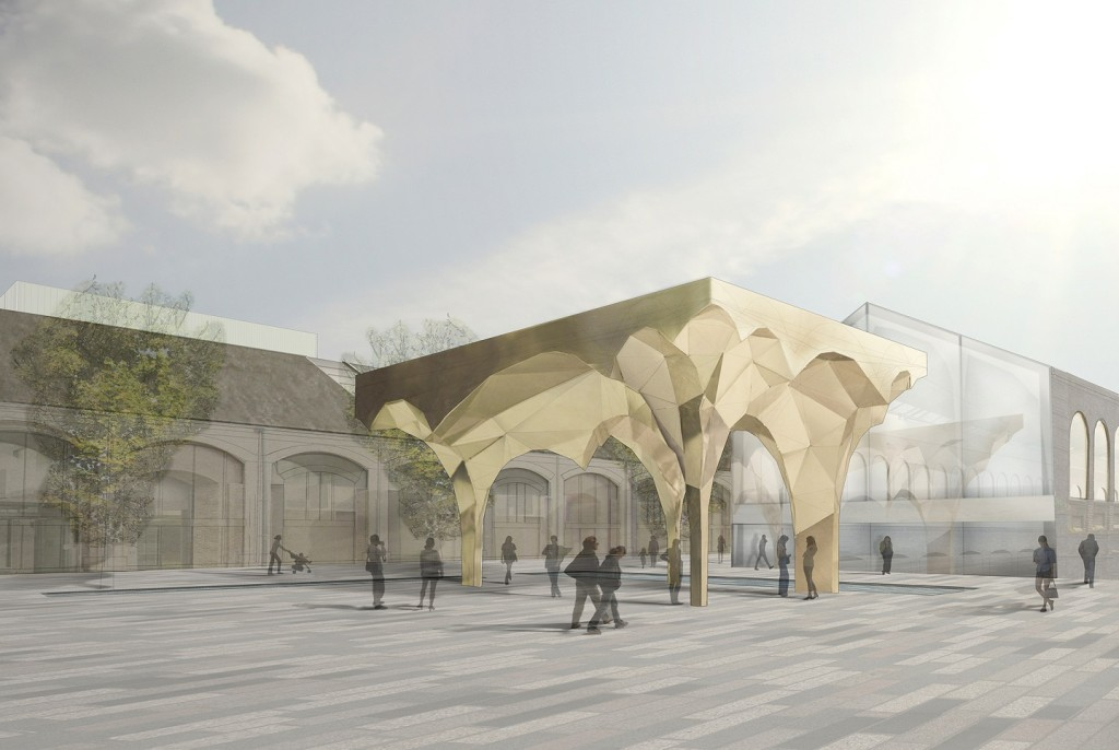 Cubitt Square Canopy Jamie Fobert Architects