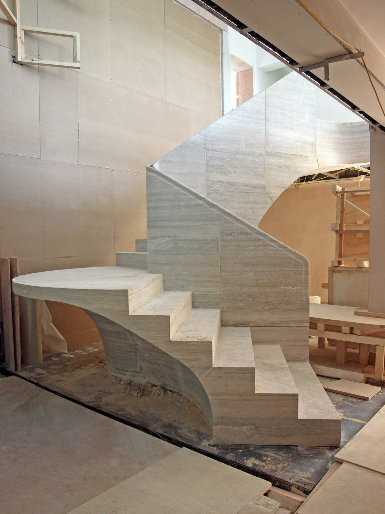 Travertine Stair Jamie Fobert Architects