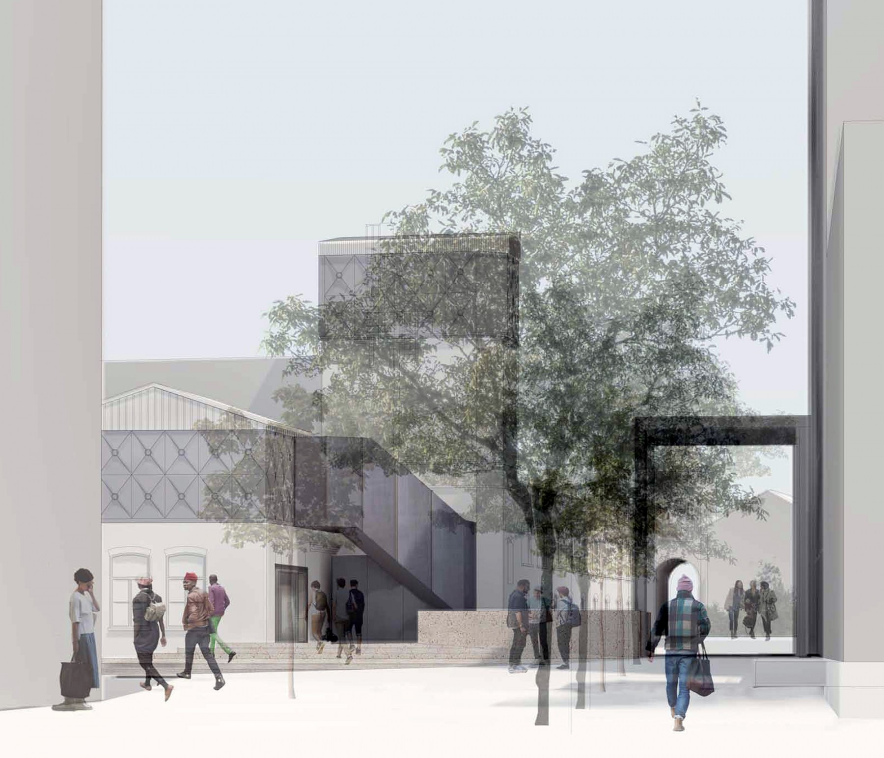 Goldsmiths-competition-gallery-London-contemporary-art-short-list-Jamie-Fobert-architects-proposed public area2