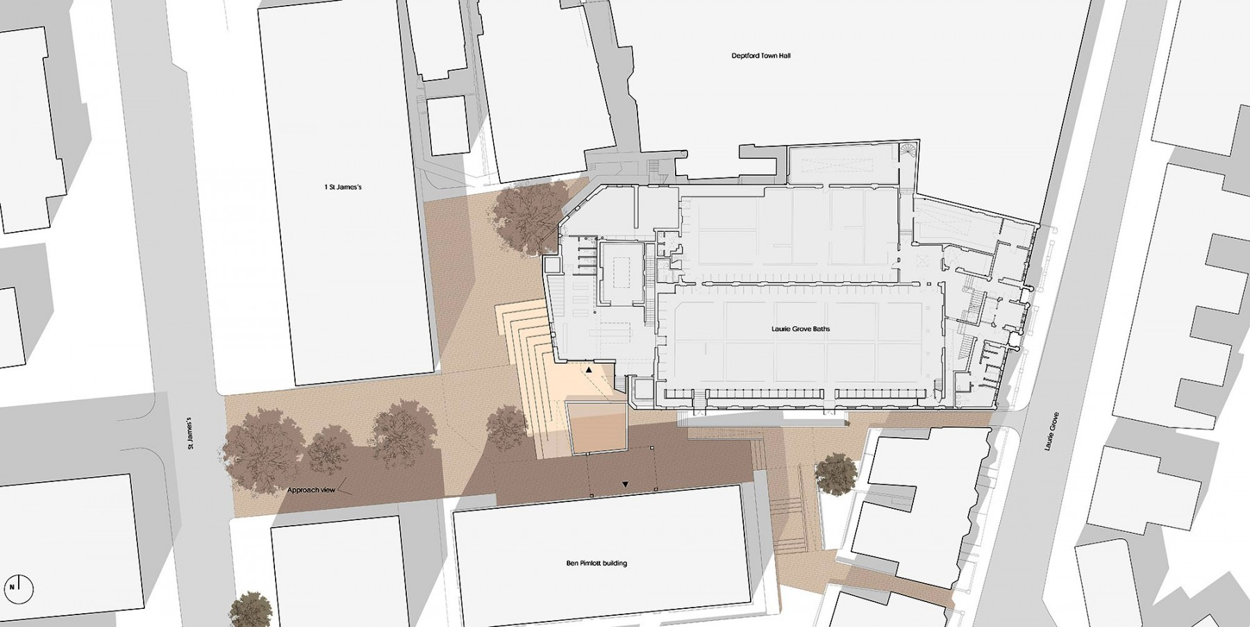 Goldsmiths-competition-gallery-London-contemporary-art-short-list-Jamie-Fobert-architects-site plan