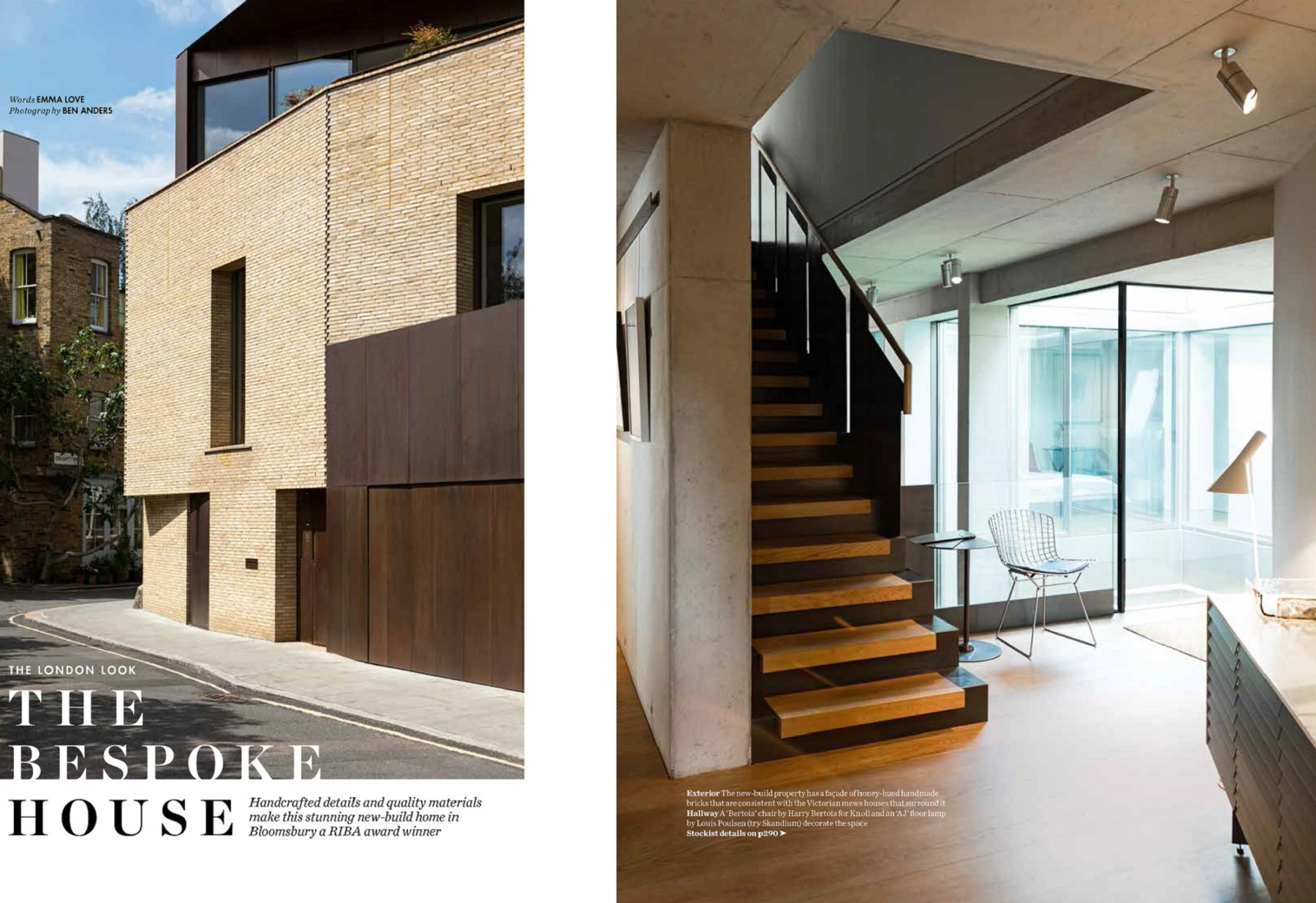 Levering-House-contemporary-modern-London-residential-home-Jamie-Fobert-Architects-Doughty-Mews-Elle-Deco