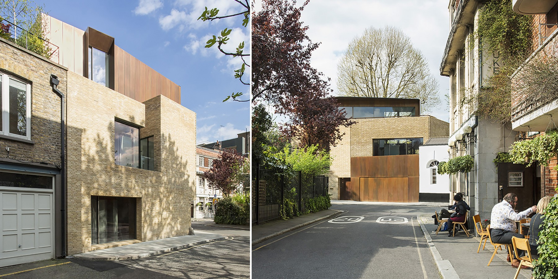 Levering-House-contemporary-modern-London-residential-home-Jamie-Fobert-Architects-Doughty-Mews-exterior-views