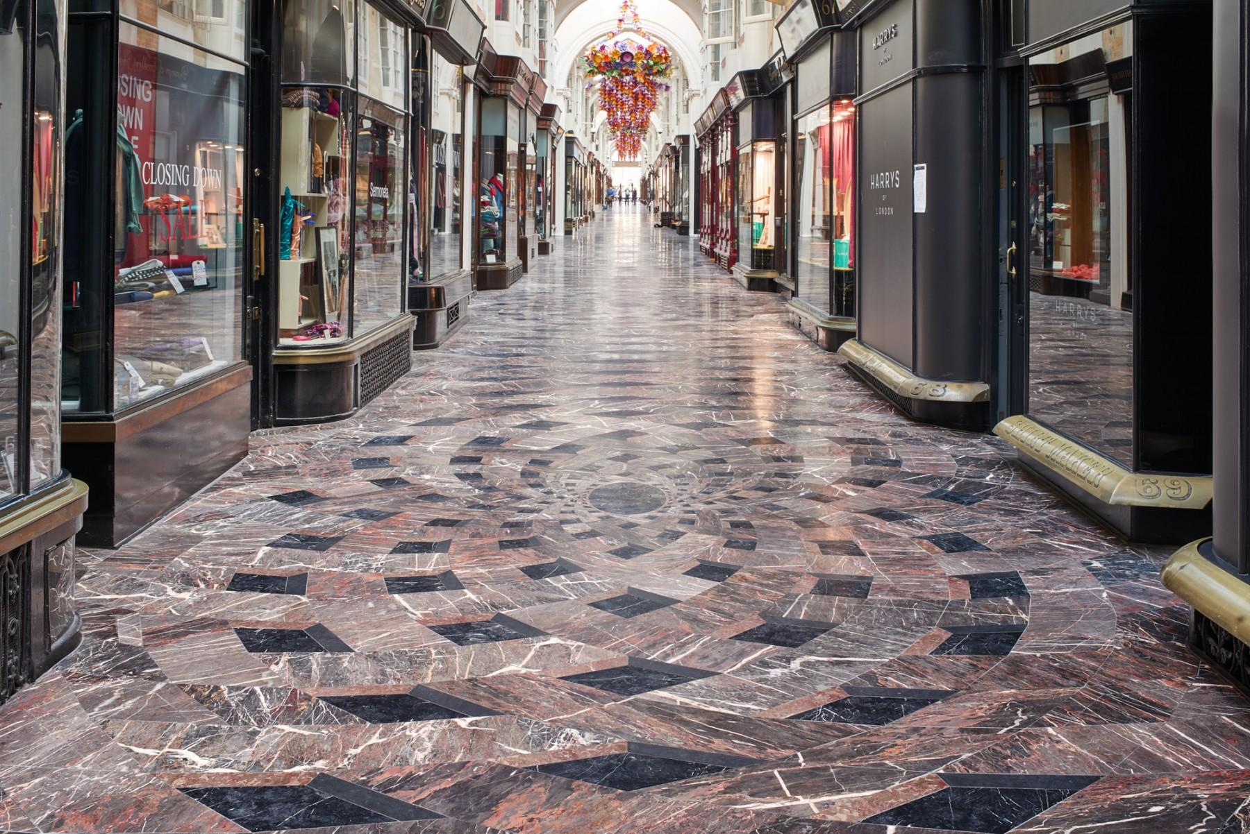 Burlington-Arcade-Piccadilly-London-Royal-Academy Jamie-Fobert-Architects- British-stone-floor-marble-mosaic-interior