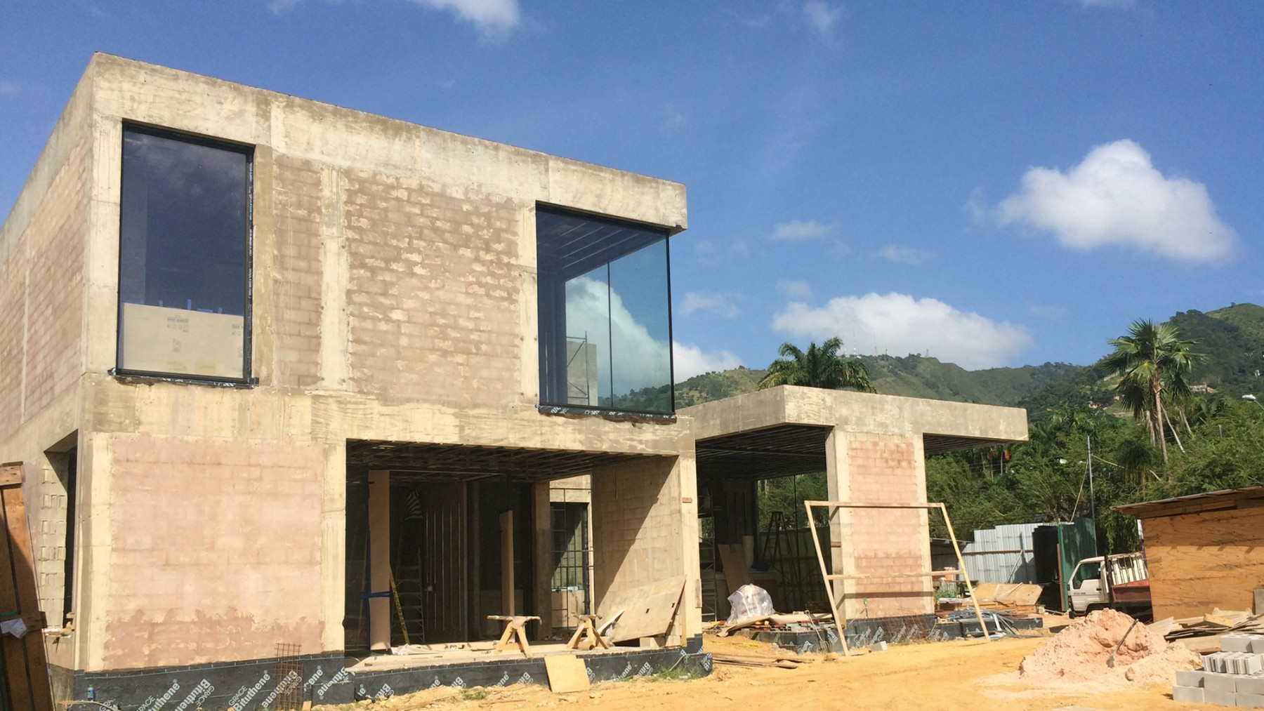 Trinidad-port-of-spain-modern-house-contemporary-residential-project-Jamie-Fobert-architects-construction-on-site-2