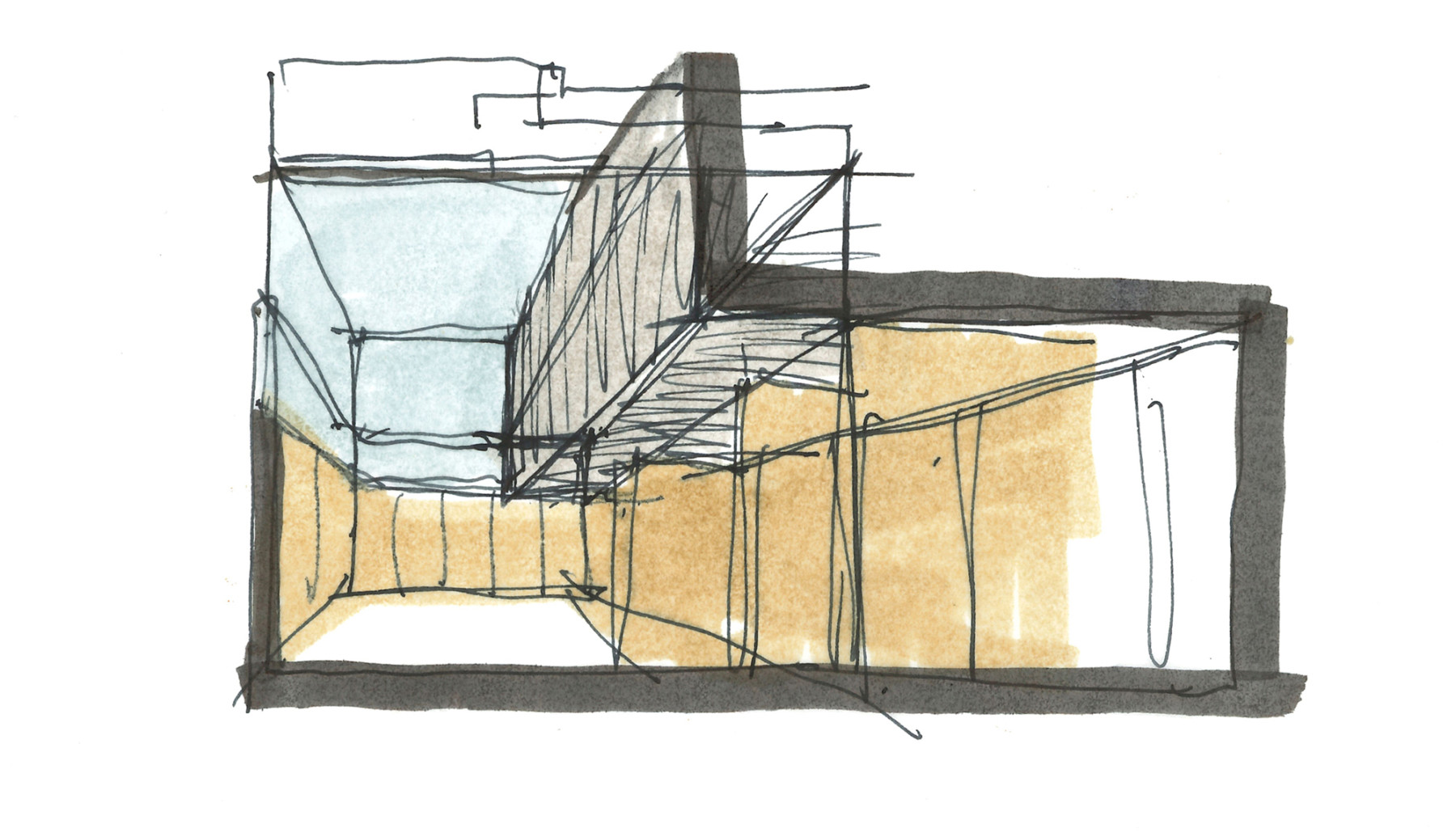 Kettle's-Yard-Cambridge-University-Art-gallery-education-redevelopment-Jim-Ede-Jamie-Fobert-Architects-sketch-double-height