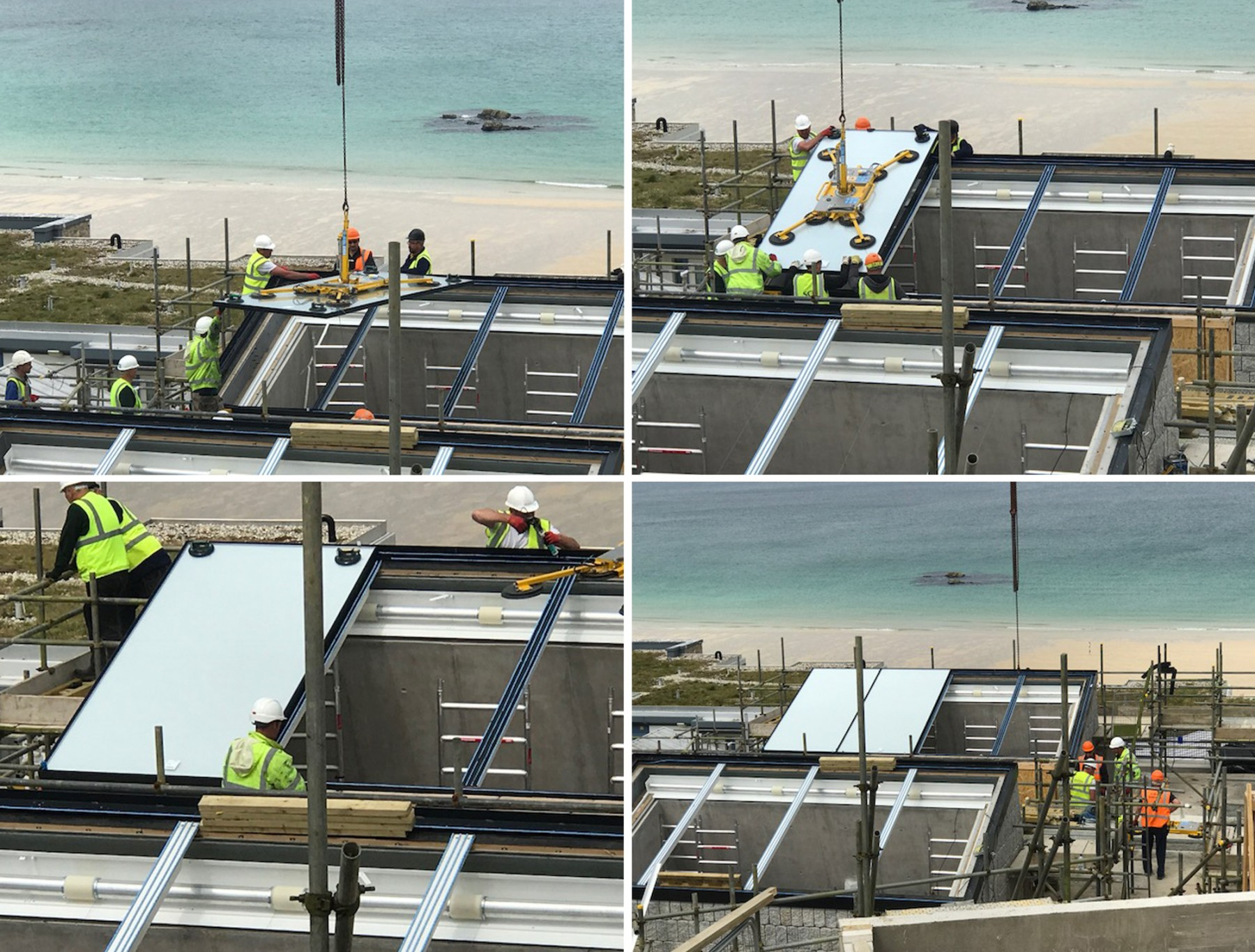 Tate-St-Ives-gallery-construction-installing-rooflights-jamie-fobert-architects