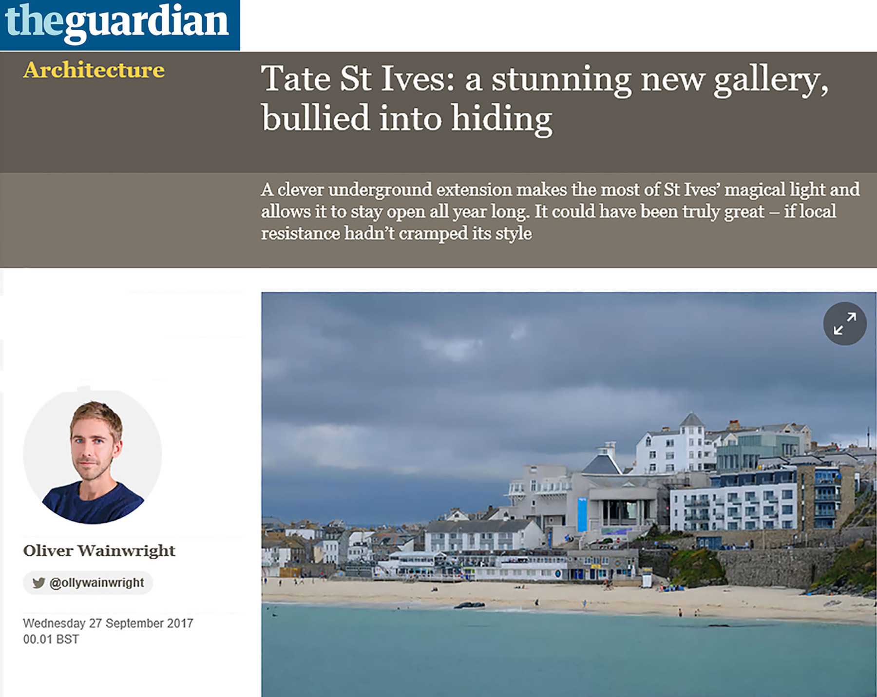 Jamie-Fobert-Architects-Guardian-Oliver-Wainwright-Online-Magazine-Tate-St-Ives-Cultural-Gallery-Modern-Contemporary-News-Project-Press-Article