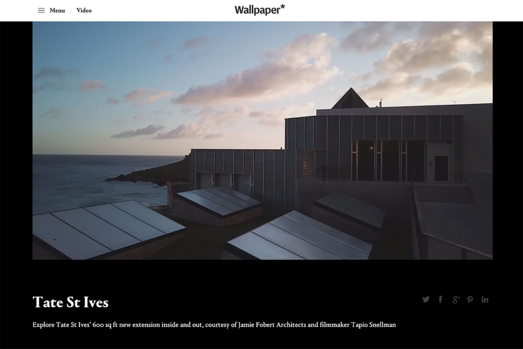 Jamie-Fobert-Architects-Wallpaper-Magazine-Tate-St-Ives-Cultural-Gallery-Modern-Contemporary-Project-Tapio-Snellman-Video