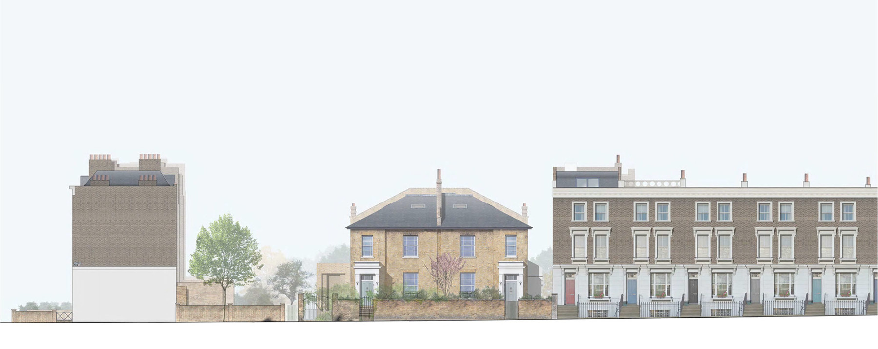 Jamie-fobert-architects-house-in-primrose-hill-west-elevation