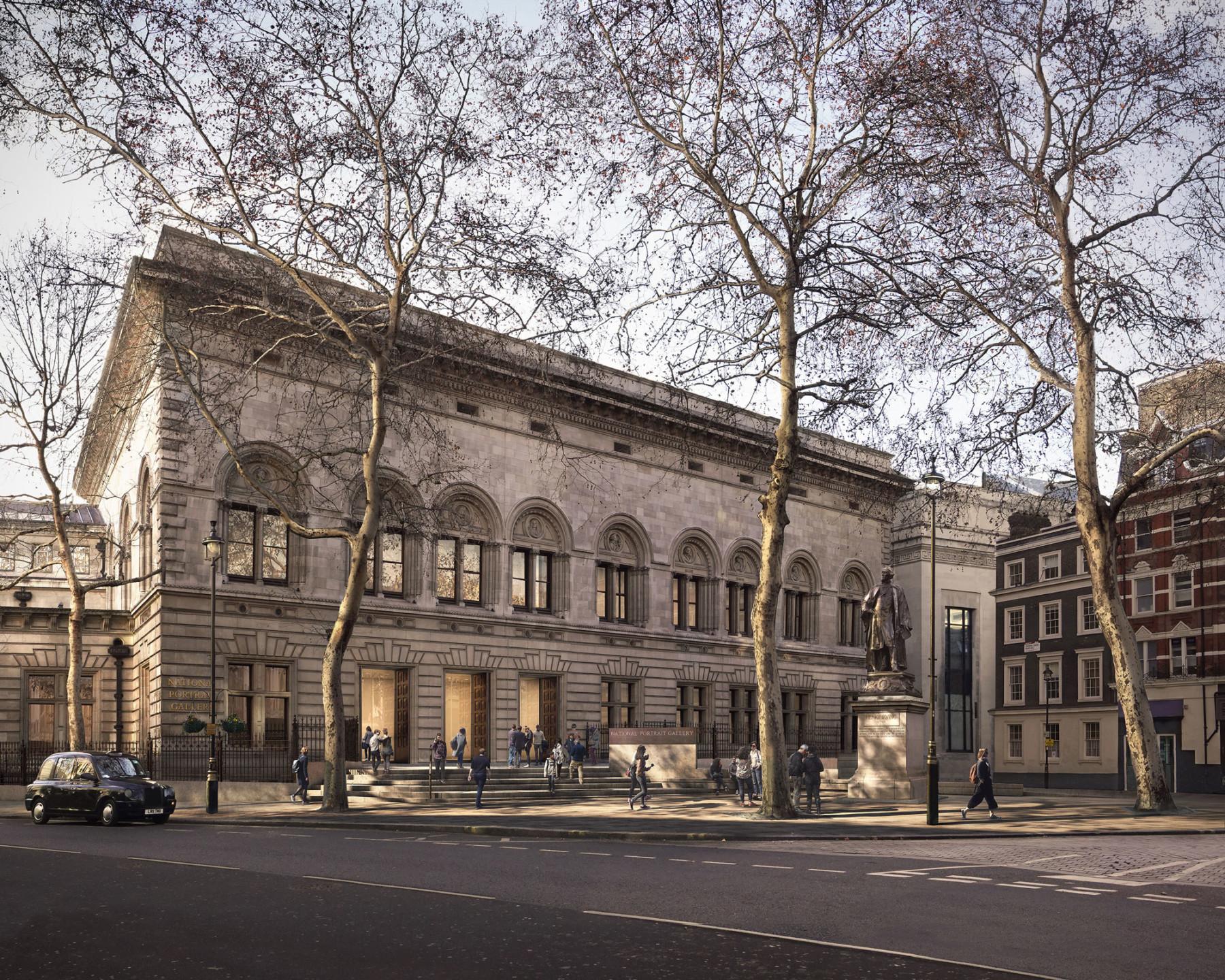 national-portrait-gallery forecourt-proposal Jamie-Fobert-Architects Forbes-Massie