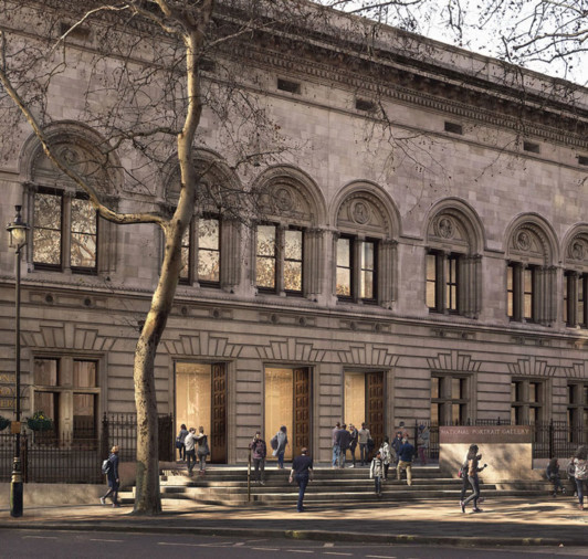 national-portrait-gallery forecourt-proposal Jamie-Fobert-Architects Thumb