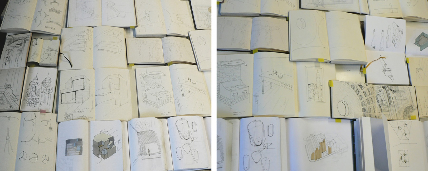 Jamie-Fobert-Architects-C4RD-Exhibition-Architecture-Sketch-Books-sketches-collage