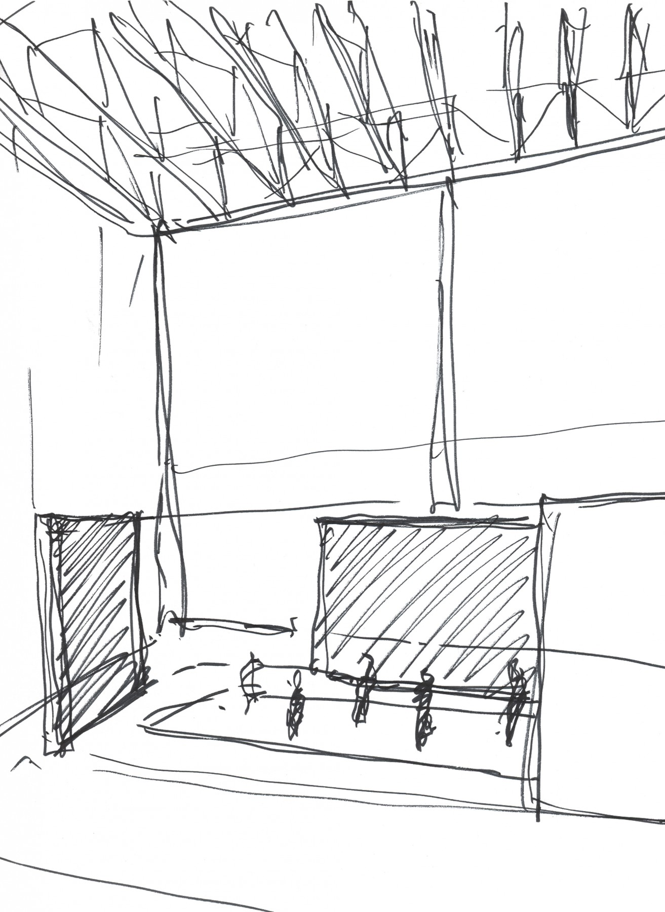 Upright-Figure-Tate-Britain-London-design-exhibition-Jamie-Fobert-Architects-Turbine-Hall-sketches