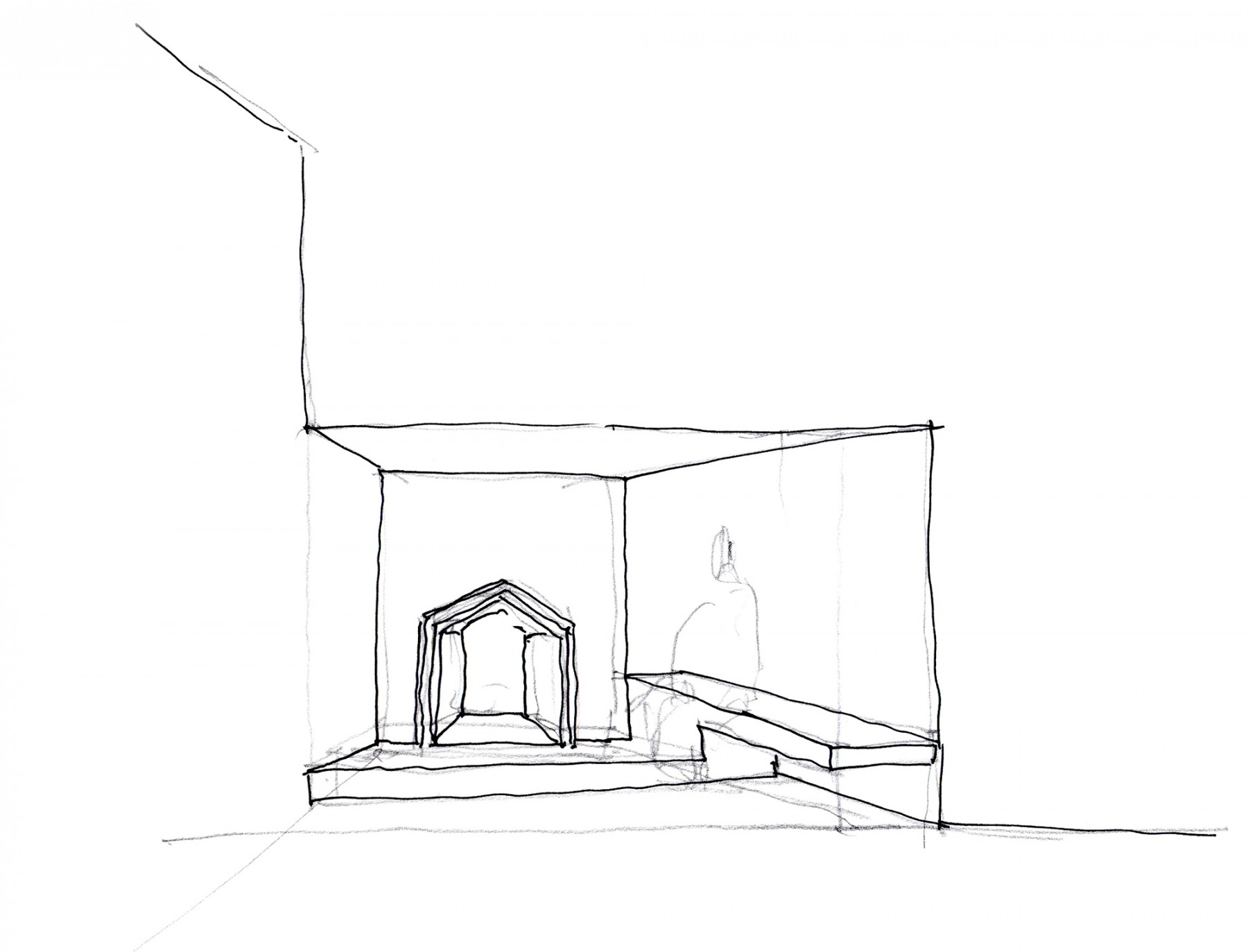 Astley-Castle-competition-accomodation-Nuneaton-Warwickshire-Landmark-trust-English-Heritage-short-list-Jamie-Fobert-architects-sketch