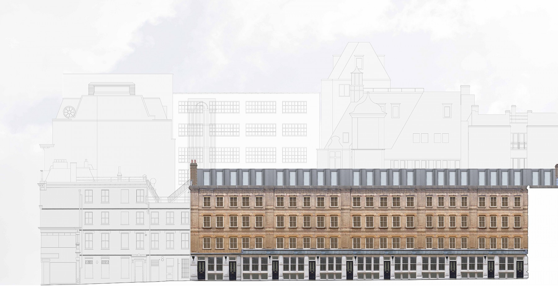 Dyers-Buildings-Private-Gated-Victorian-luxury-apartment-scheme-Residential-Development-Holborn-London-Jamie-Fobert-Architects-east-elevation-2