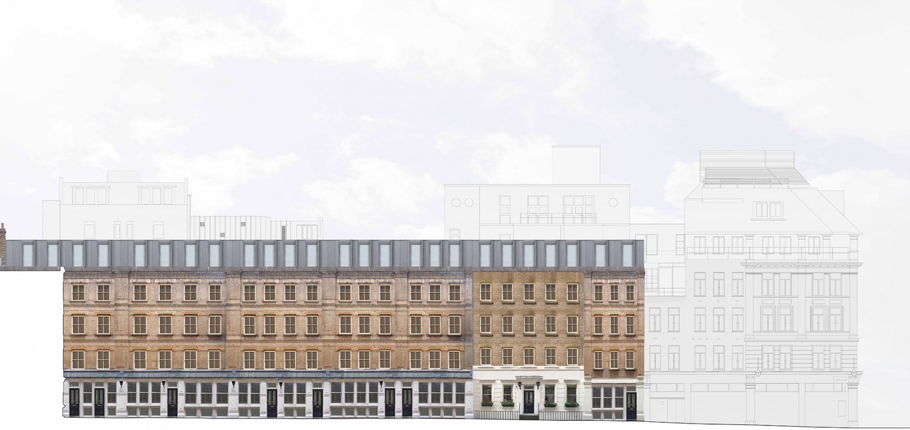 Dyers-Buildings-Private-Gated-Victorian-luxury-apartment-scheme-Residential-Development-Holborn-London-Jamie-Fobert-Architects-west-elevation-1-sm