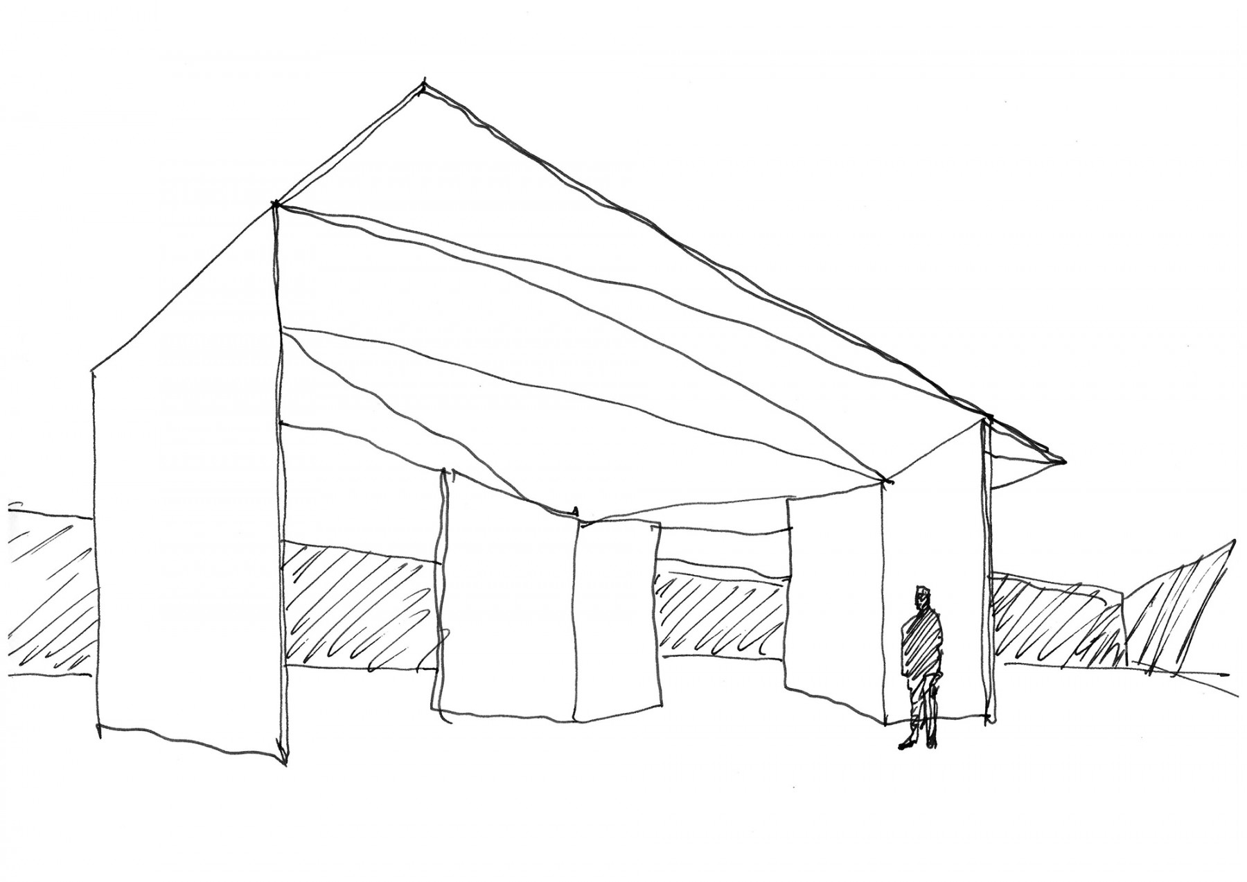 Garden-Grange-Pavilion-landscape-cheshire-cogshall-bronze-copper-room-gate-Tom-Stuart-smith-Jamie-Fobert-Architects-sketch1