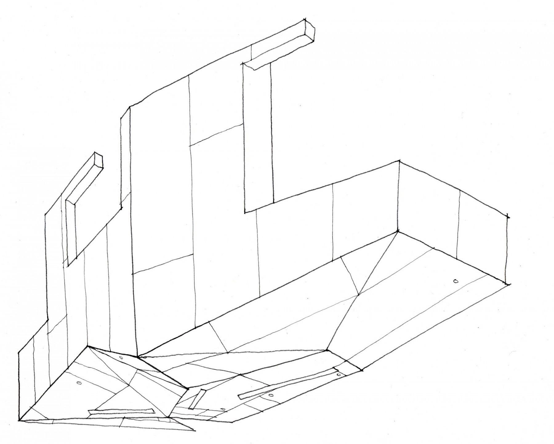Konditor-&-Cook-cake-shop-cafe-retail-London-Jamie-Fobert-Architects-steel-30-St-Mary-Axe-gherkin-sketch