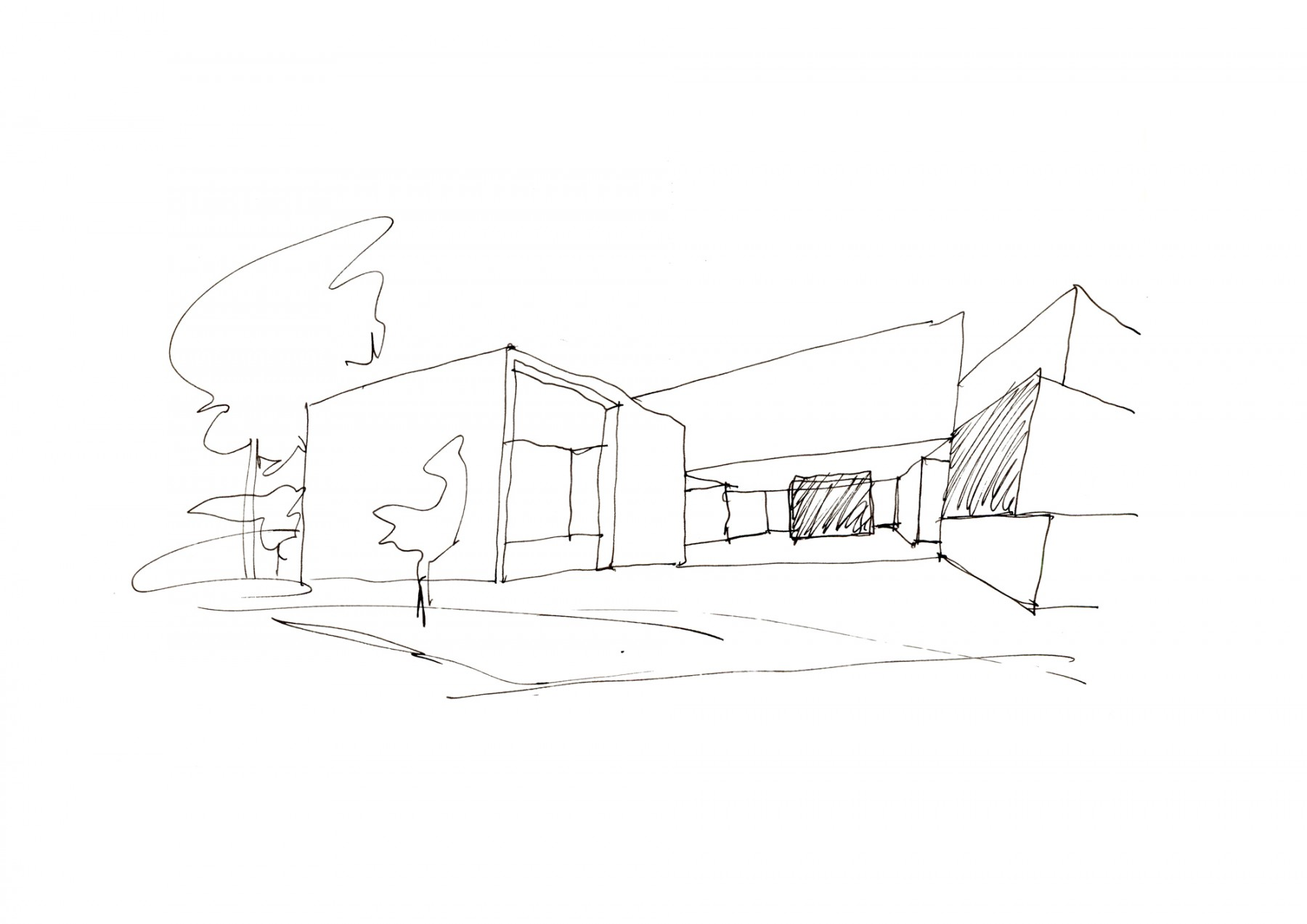 Luker-House-contemporary-modern-London-residential-home-Jamie-Fobert-Architects-sketch-4