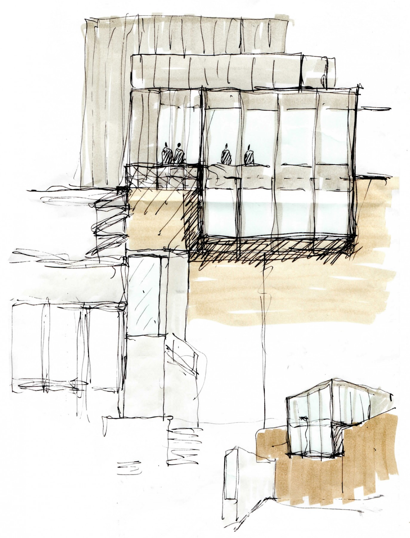 Tate-St-Ives-Cornwall-council-new-Extension-competition-Art-gallery-education-Jamie-Fobert-Architects-sketch