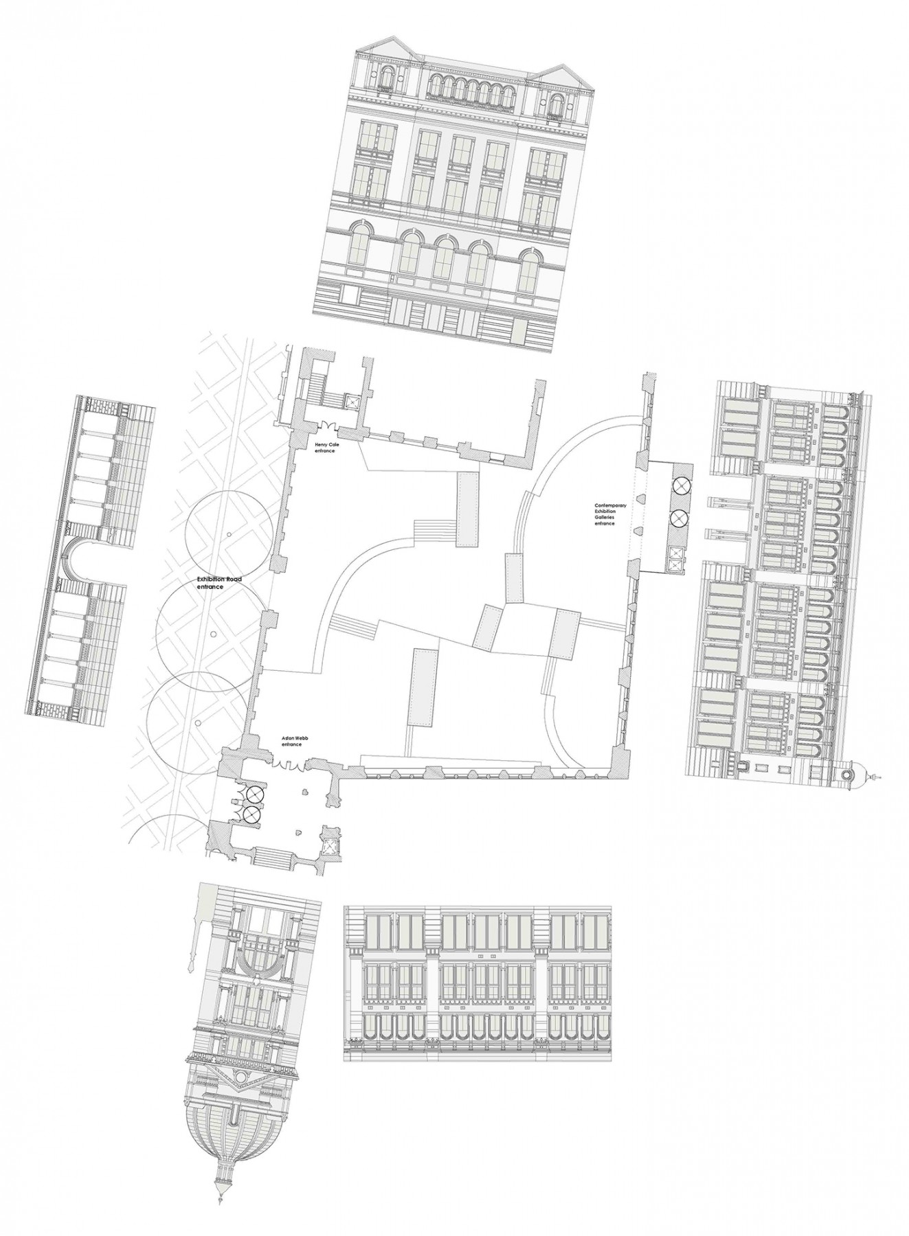 Victoria-and-Albert-Museum-V&A-competition-Exhibition-Road-gallery-London-Sir-Aston-Webb-design-short-list-Jamie-Fobert-architects-floor-plan