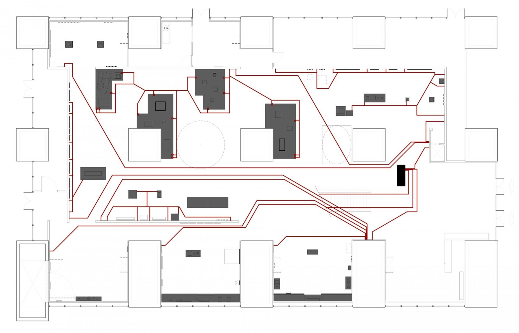 Martian-Museum-Terrestrial-art-Barbican-London-contemporary-design-exhibition-gallery-Jamie-Fobert-Architects-plan