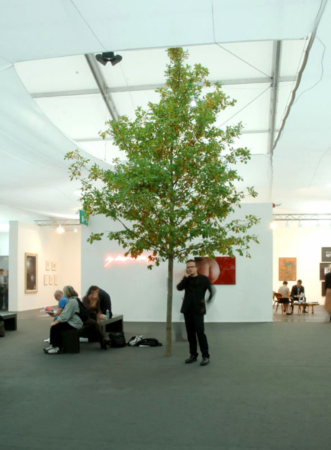 Jamie-Fobert-Architects Frieze-Art-Fair- temporary structure-regents-park -trees-gallery
