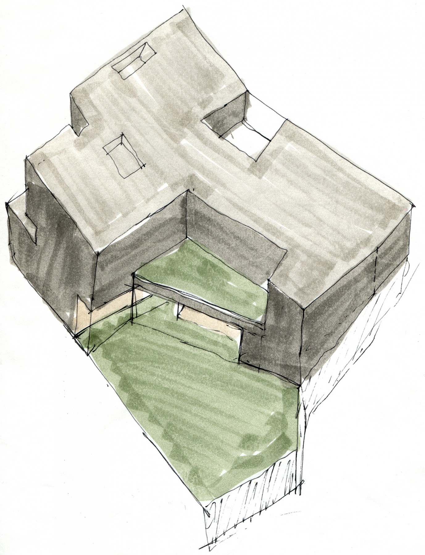 Gain-Draper-House-contemporary-modern-Cape-Town-residential-home-Jamie-Fobert-Architects-sketch
