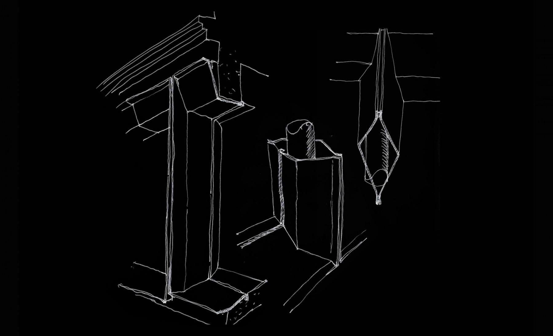 Jamie-Fobert-Architects- les-cours-du-BHV- rue-des-archives - sketch