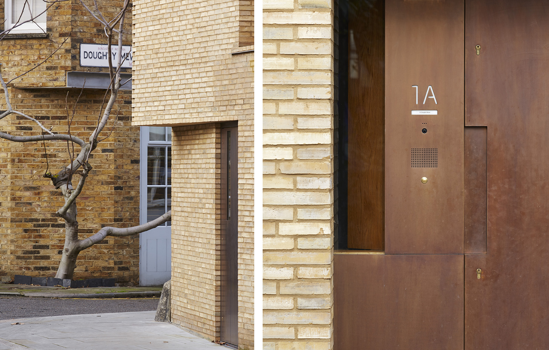 Levering-House-contemporary-modern-London-residential-home-Jamie-Fobert-Architects-Doughty-Mews-Door