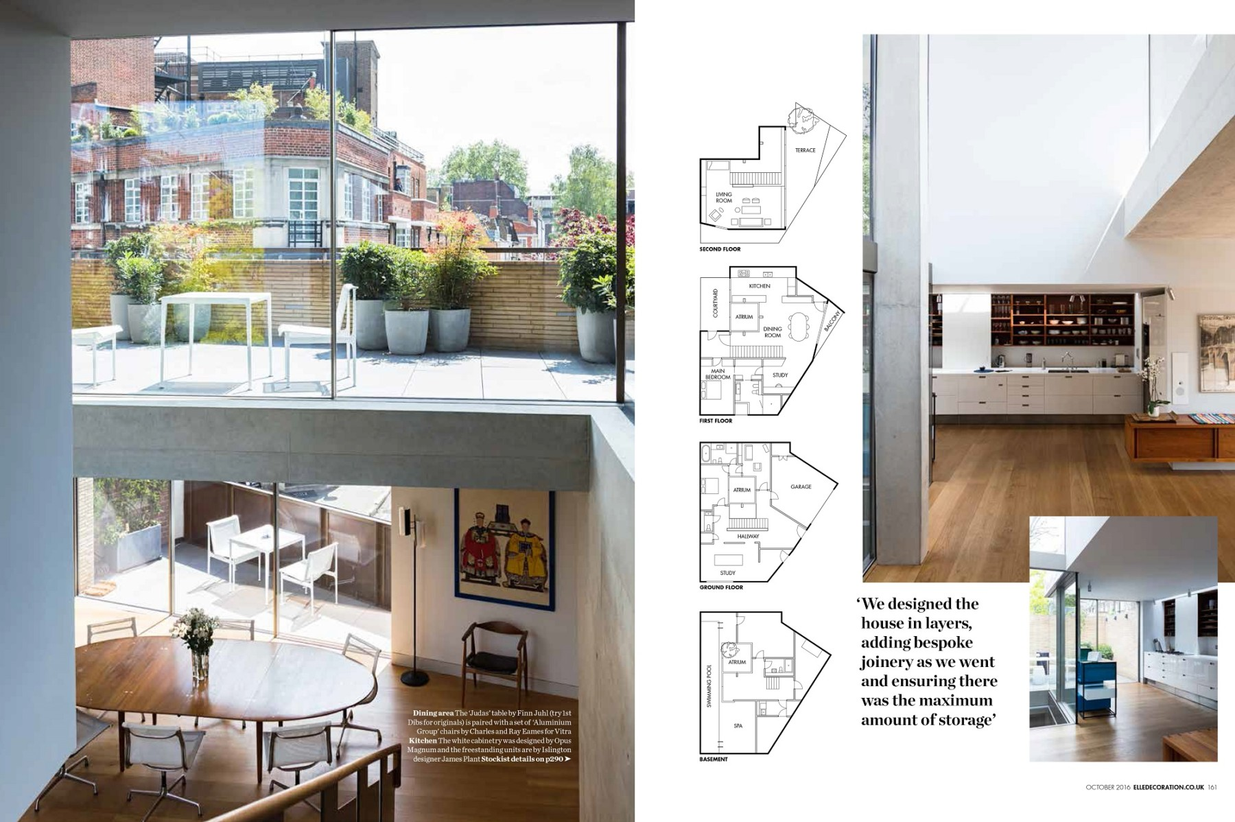 Levering-House-contemporary-modern-London-residential-home-Jamie-Fobert-Architects-Doughty-Mews-Elle-Deco 3