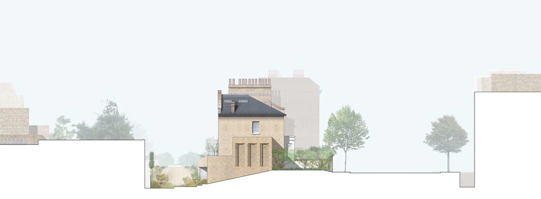 Jamie-fobert-architects-house-in-primrose-hill-north-elevation